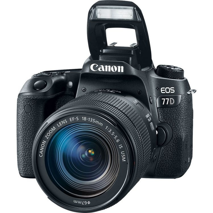 Фотоаппарат зеркальный Canon EOS 77D Kit 18-135 IS STM